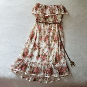 Strapless Floral Maurices Dress